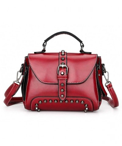 Studded Vintage Handbag Shoulder Leather