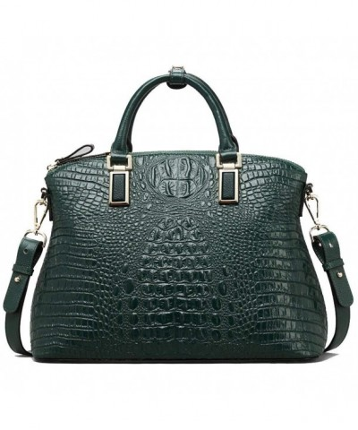 Top handle Handbags Embossed Crocodileull grain Cowhideatchels