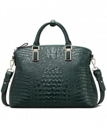 Top handle Handbags Embossed Crocodileull grain Cowhideatchels