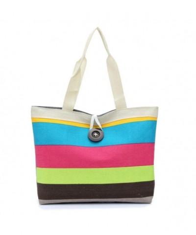 YJYDADA Colored stripes Shopping Shoulder