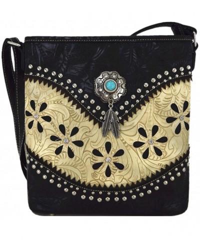 Western Leather Handbags Concealed Shoulder