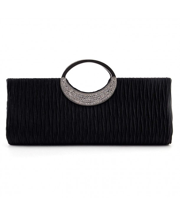 Nodykka Wedding Pleated Rhinestone Handbag