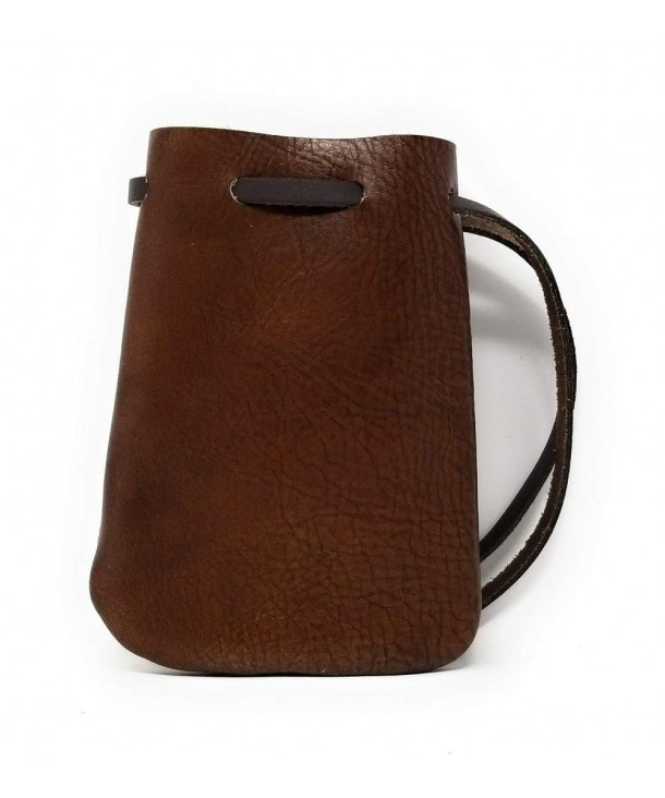 Leather Drawstring Pouch Coin Medicine