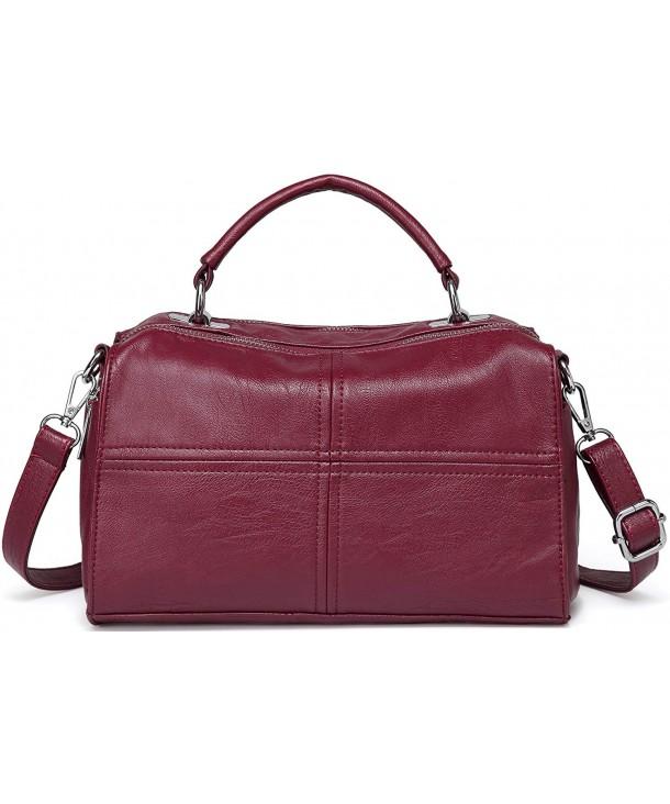 Crossbody VASCHY Leather Shoulder Burgundy