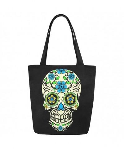 InterestPrint Floral Canvas Shoulder Handbag