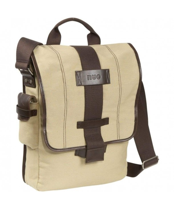 Tech Vertical Canvas Messenger Bag Color