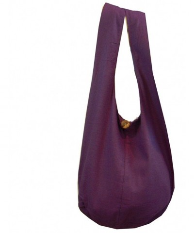 Buddha Cotton Crossbody Messenger Eggplant