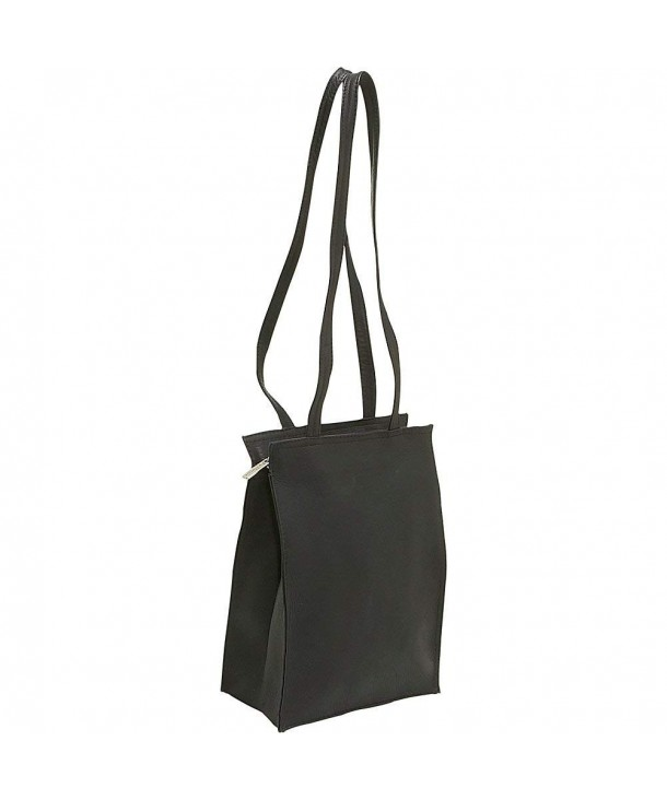 Donne Leather Zip Top Tote