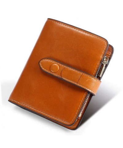 Yafeige Blocking Compact Leather Trifold