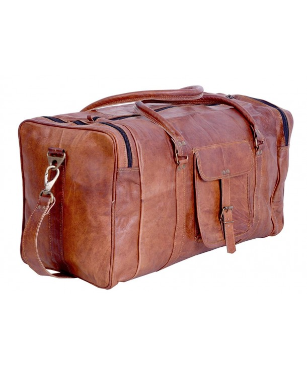 Vintage Leather Duffel Overnight Weekend