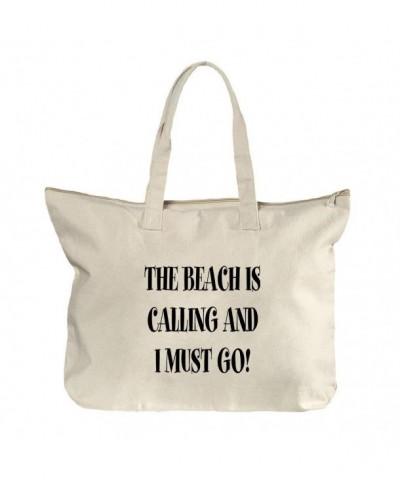Beach Calling Must Canvas Zipper