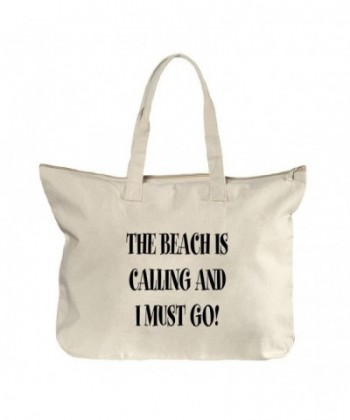 Beach Calling Must Canvas Zipper