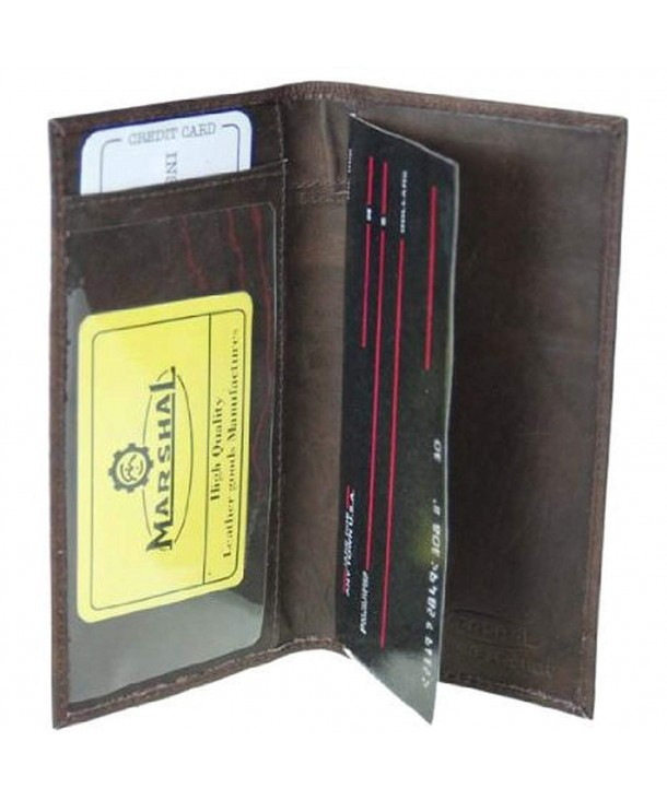 Genuine Leather Bi fold Check Covers
