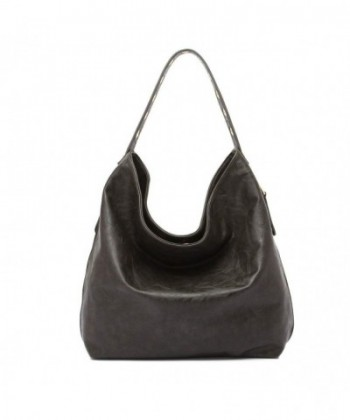 Large Solid Soft Handle Hobo