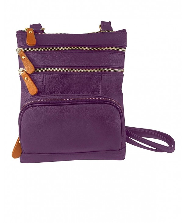 Roma Leathers Crossbody Zippered Purse