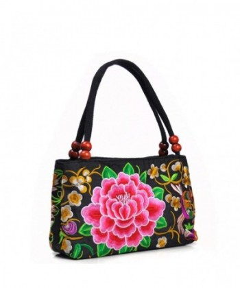 LUOEM Embroidered Handbags Shoulder Embroidery