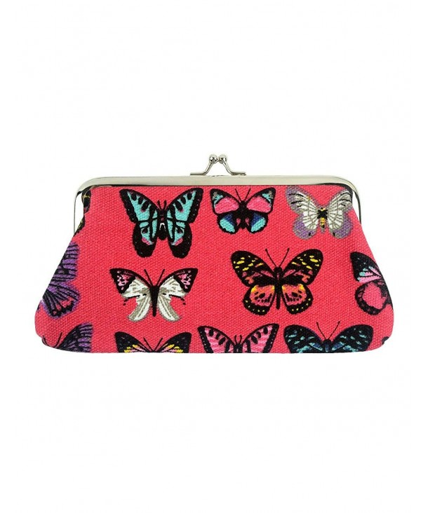 POPUCT Womens Canvas Handbag Butterfly