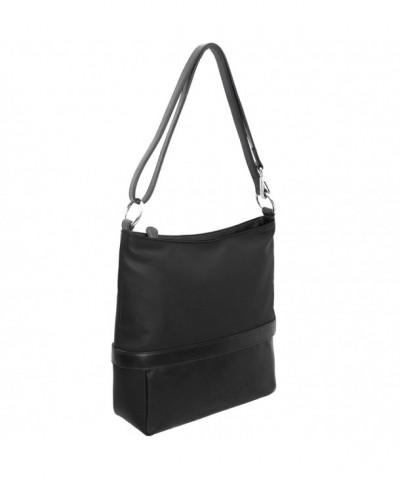 Leather Color Block Shoulder Handbag