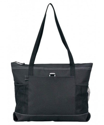 Gemline Select Zippered Tote Black