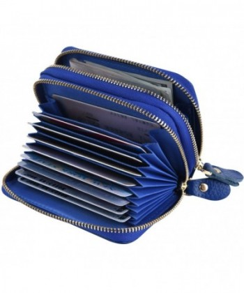 Accordion Wallet Leather Credit Holder