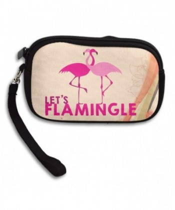 Flamingo Wallet Wristlet Zipper Change