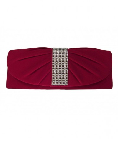 Velvet Rhinestones Evening Shoulder Handbag