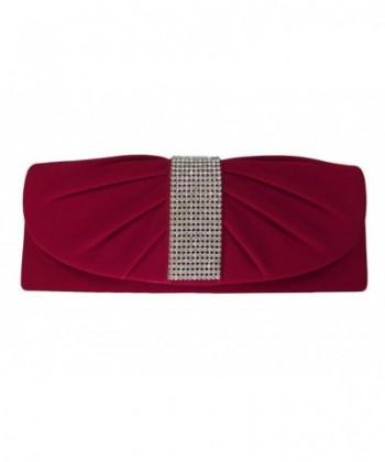 Velvet Rhinestones Evening Shoulder Handbag