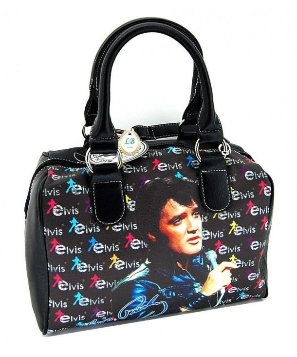 Elvis Presley Satchel Handbag Microphone