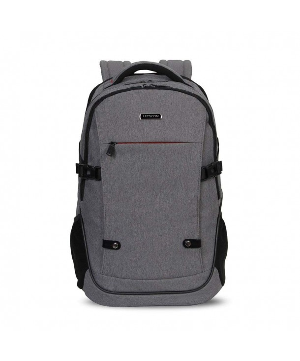 LETSCOM Laptop Backpack Multi compartment 112846 Gray