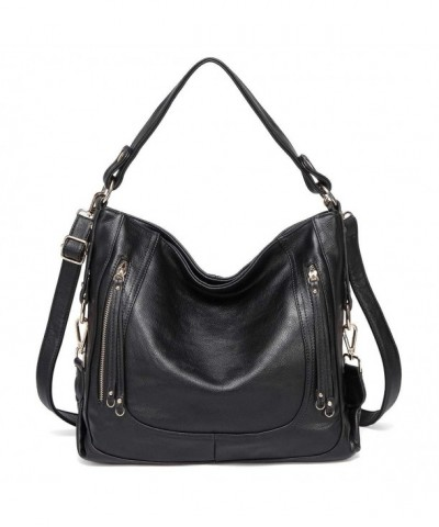 Kasqo Handbag Leather Shoulder Detachable