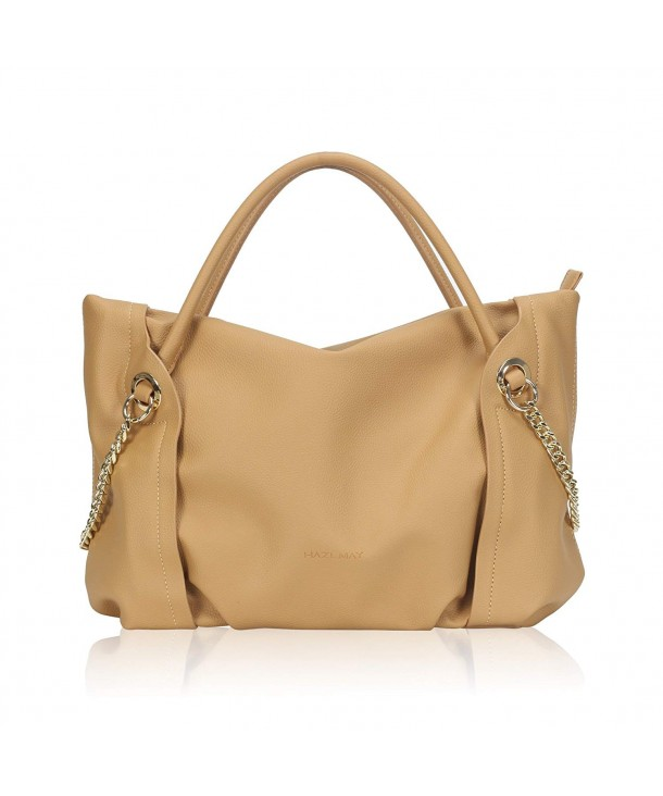 Handle Handbags Chain Satchel Leather