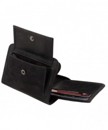 Angelino Blocking Zippered Wallet Italian Leather