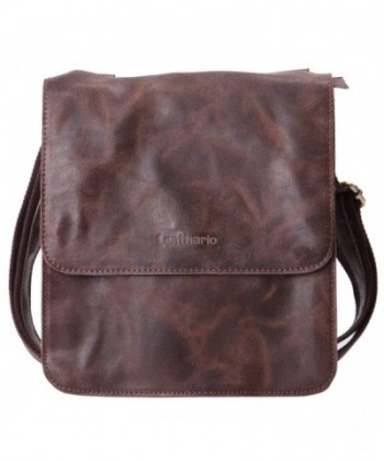 Leathario Leather Shoulder Messenger Crossbody