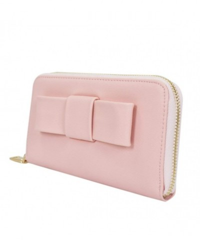 Womens Front Leather Around Wallet