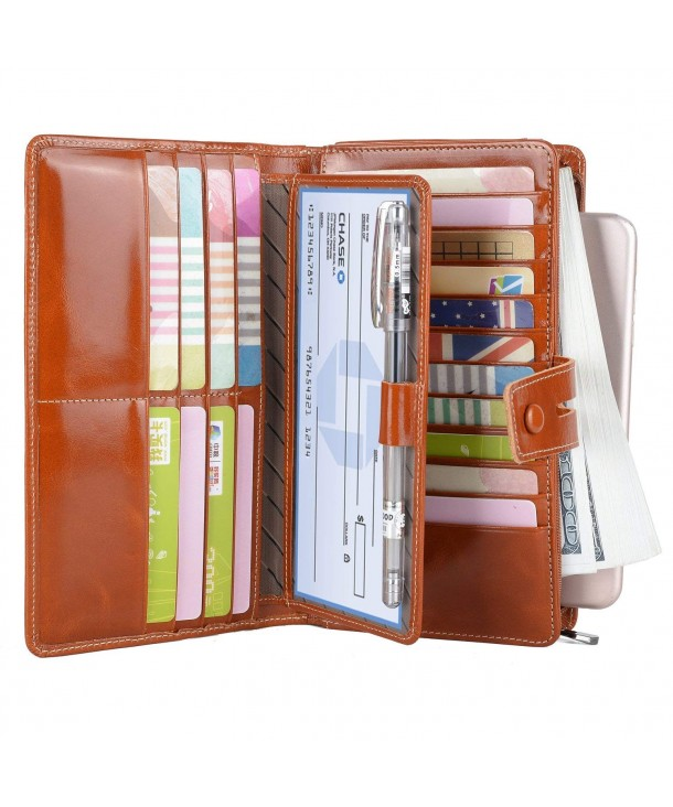 YALUXE Blocking Capacity Removable Checkbook