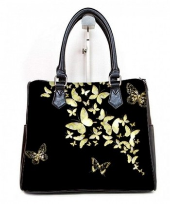Fashionable Women Barrel Handbags Butterfly