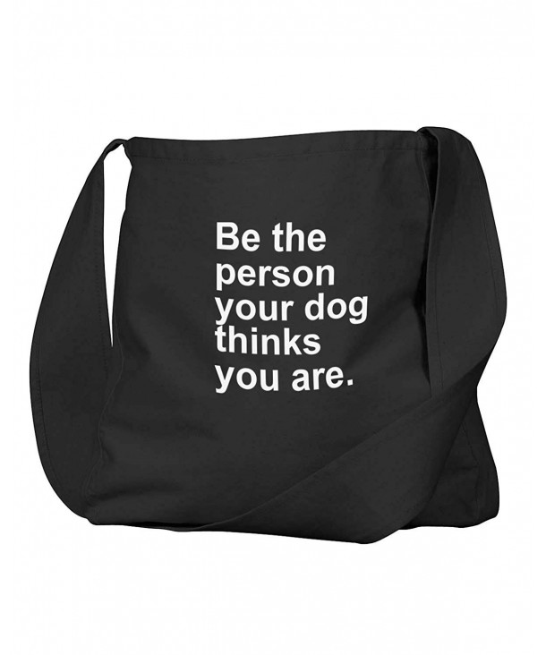 Funny Person Thinks Canvas Satchel