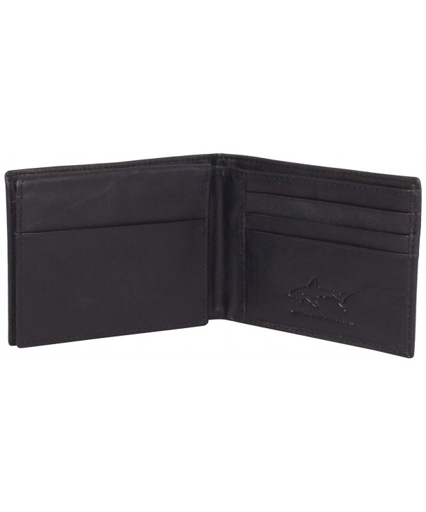 Greg Norman Kidskin Passcase Black