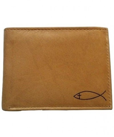 Christian Religious GENUINE LEATHER Bi fold