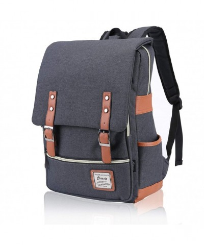 FIGROL Vintage Backpack Capacity Durable School