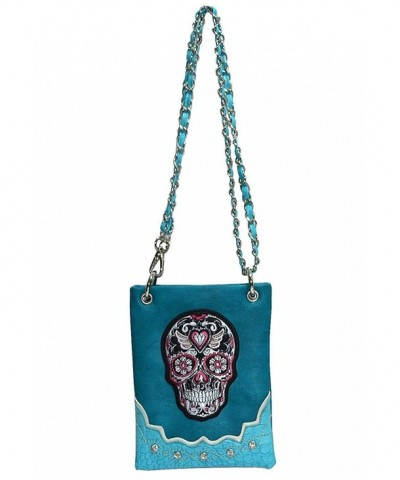 Crossbody Messenger Shoulder Western Turquoise