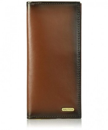 Nautica Leather Secretary Checkbook Organizer