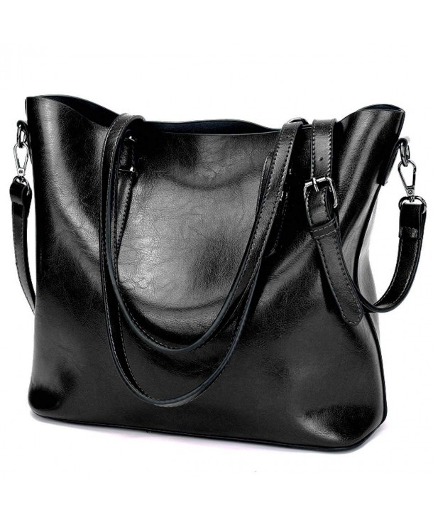 YALUXE Capacity Leather Closure Shoulder