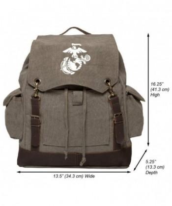 Marine Semper Fidelis Rucksack Leather x