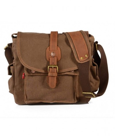Bronze Times Canvas Messenger Coffee