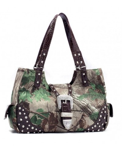Realtree Camouflage Studded Shoulder Rhinestone