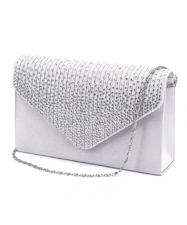 Ladies Evening Diamante Envelope Handbag