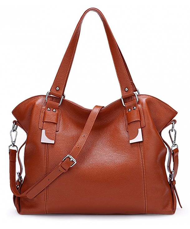 SALE AINIMOER Leather Shoulder Vintage Handbags