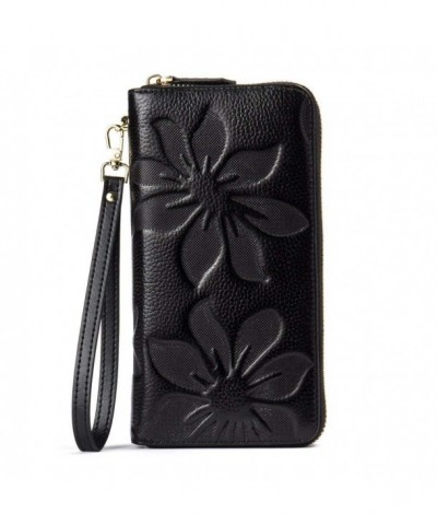 BOSTANTEN Leather Wallets Capacity Wristlet