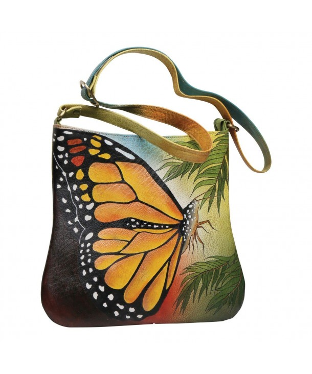 Handpainted Butterfly Shoulder Bag Crossbody